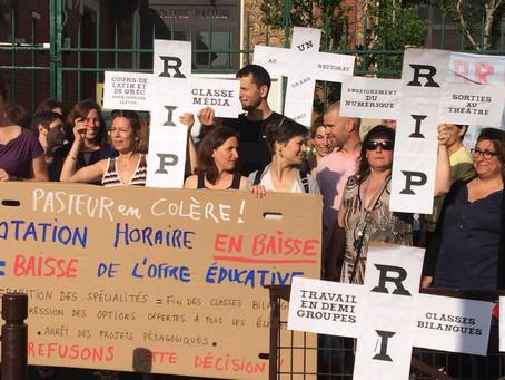 Non à la baisse de la dotation horaire du collège Pasteur à Villejuif !