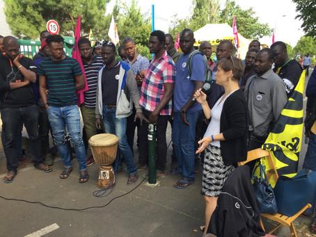 Alfortville : Pour la régularisation des travailleurs Chronopost