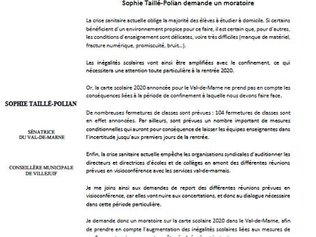 Inégalités scolaires : je demande un moratoire sur les fermetures de classes dans le Val-de-marne !