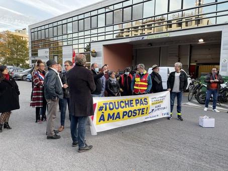 Mobilisation contre la fermeture du bureau de poste de Léo Lagrange !