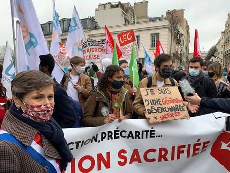 Manifestation en solidarité avec les étudiant·e·s