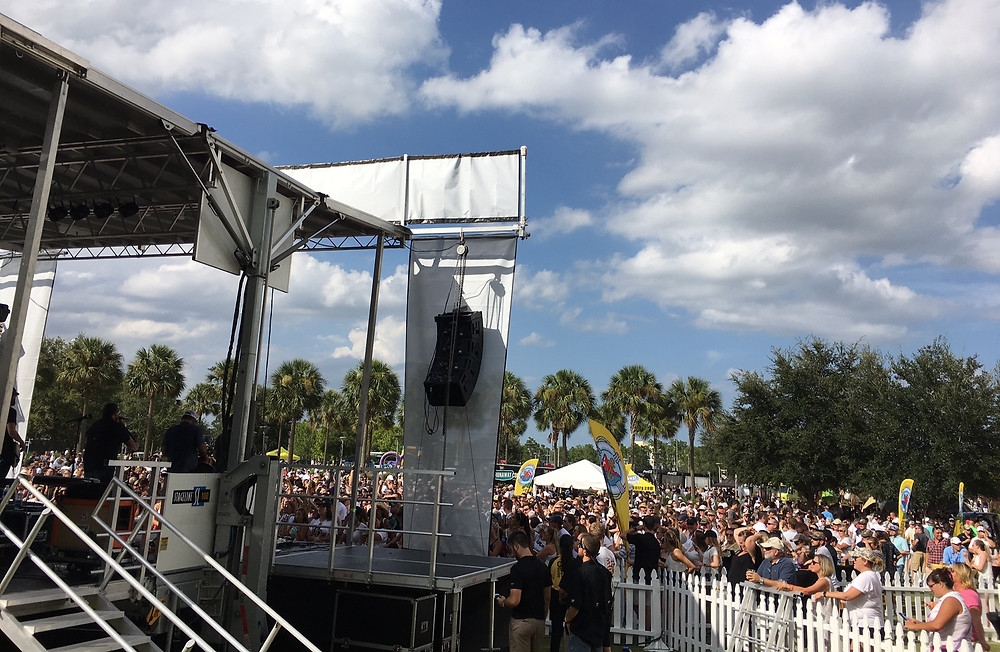 Luke Combs rocks the axispro stage at UCF tailgate concert.