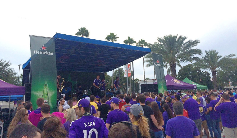 the aXisPro MAP24 Mobile Stage rocked with Less Than Jake for the Orlando City season ending concert!