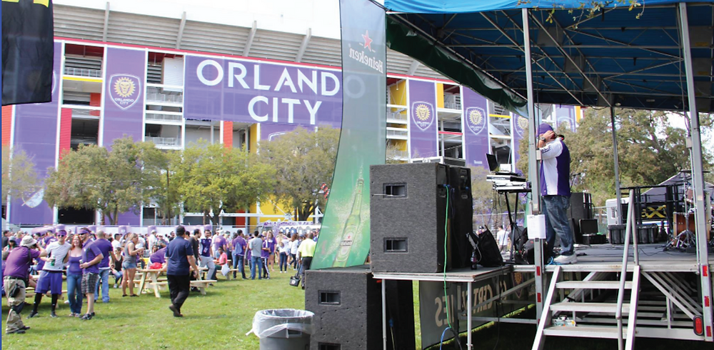 aXisPro provided the MAP24 w/ Nexo Audio rig for Surfer Blood on the Heineken Stage at Camping World Stadium.
