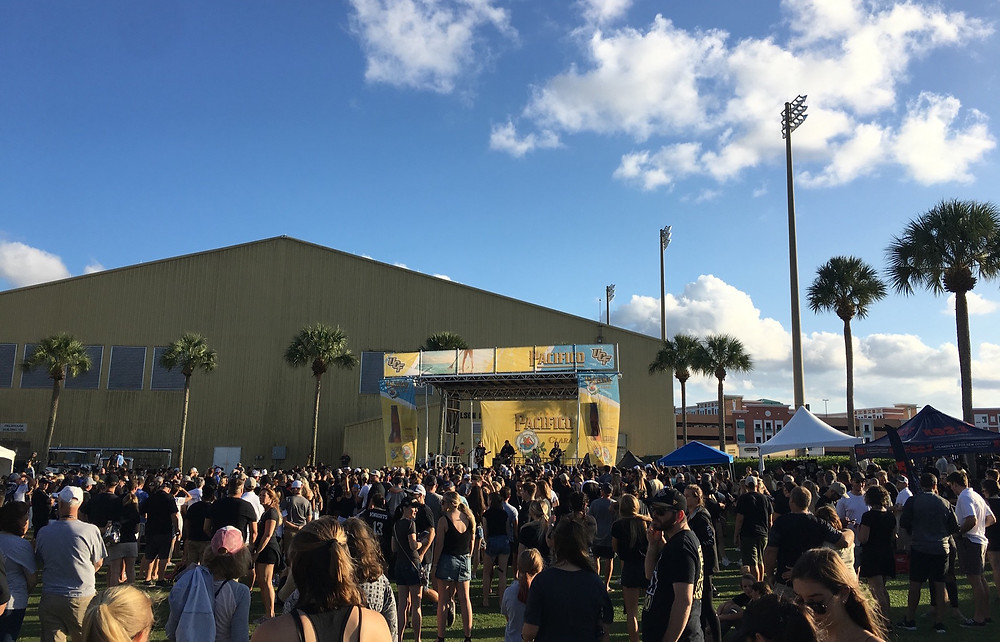 hardy on the ucf football tailgate stage