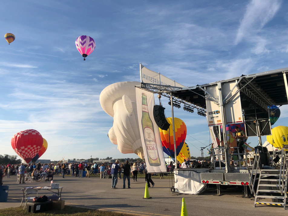 Mobile Stage: 24x20: Up Up and Away Balloon Fest 2020
