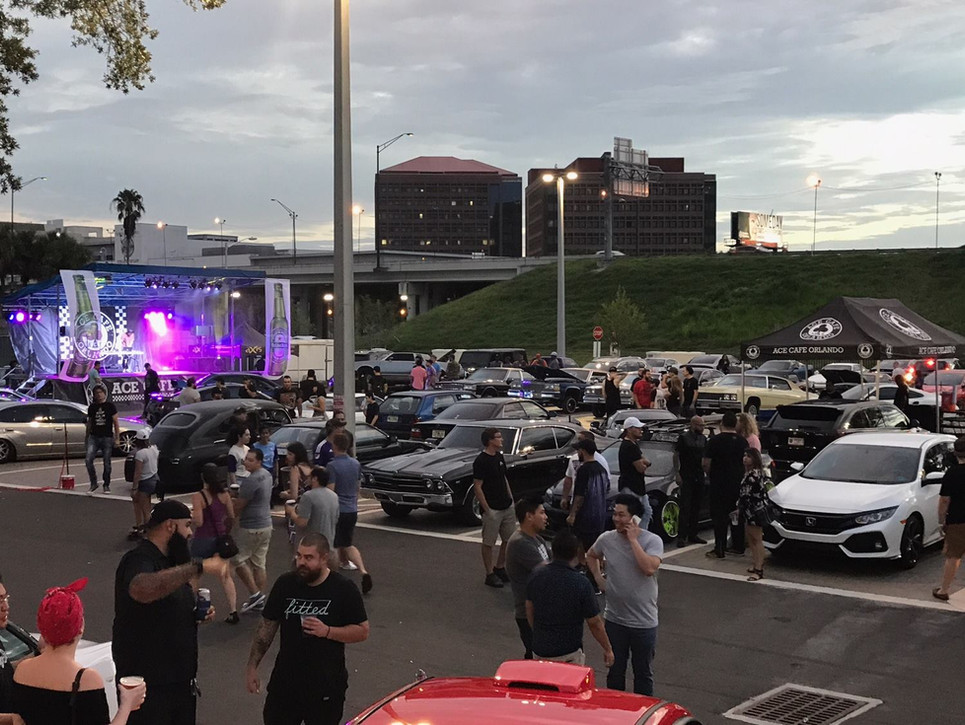 Mobile Stage: 24x16: Ace Cafe car shows
