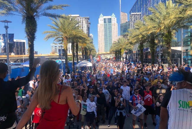 The Orlando Magic 2019 Playoff Fanfest welcomed thousands to the pregame party in front of the aXisPro SL100 Stage!