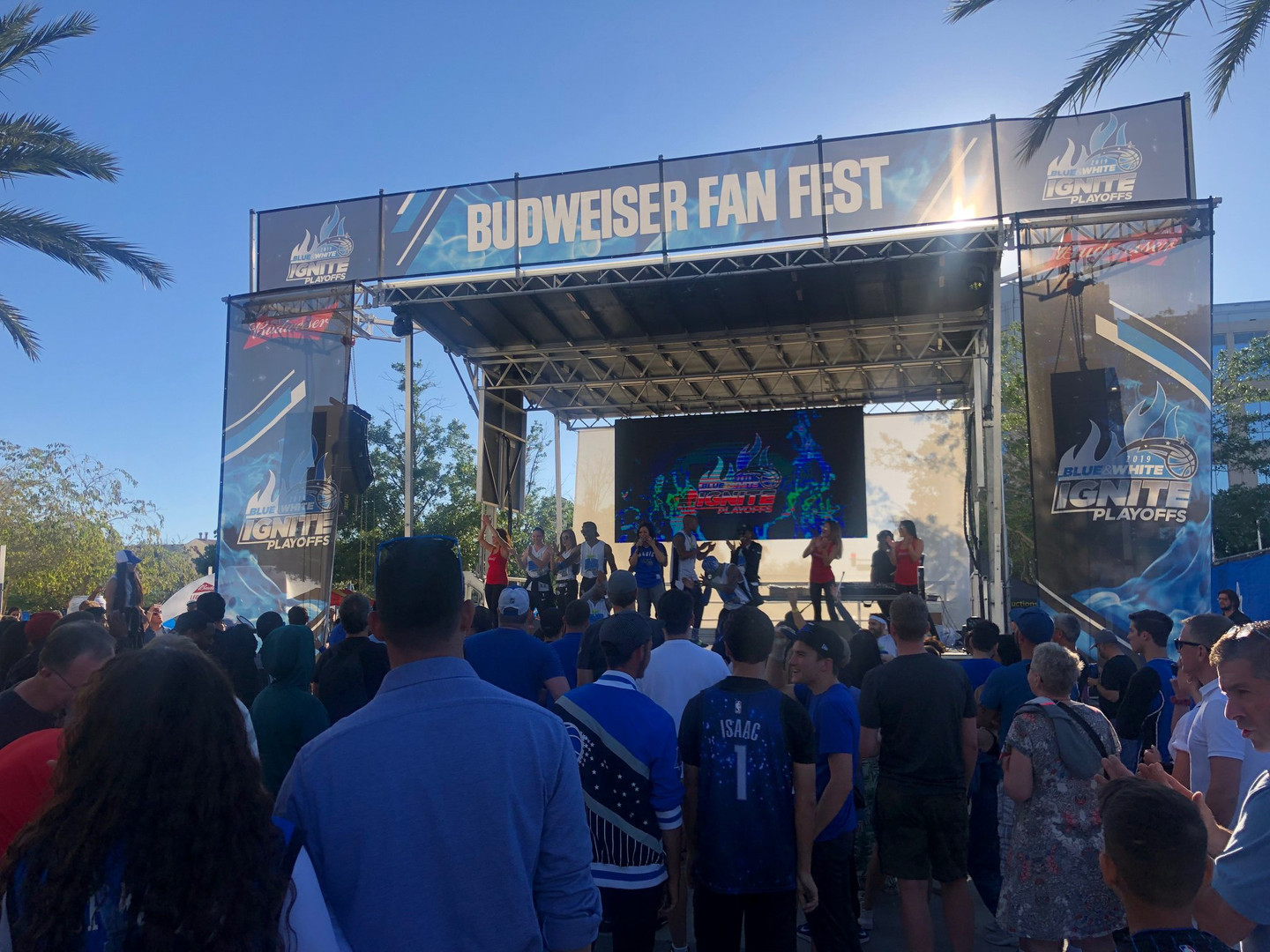 Mobile Stage: 24x20: Orlando Magic Playoff Fanfest