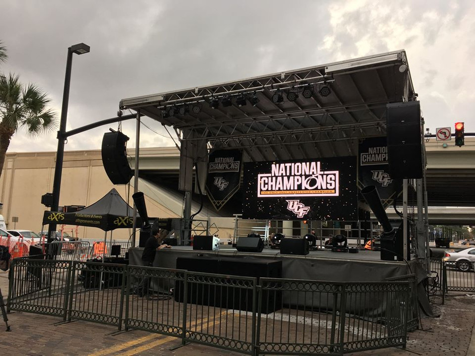 Mobile Stage: 24x20: UCF Championship Rally on Church Street