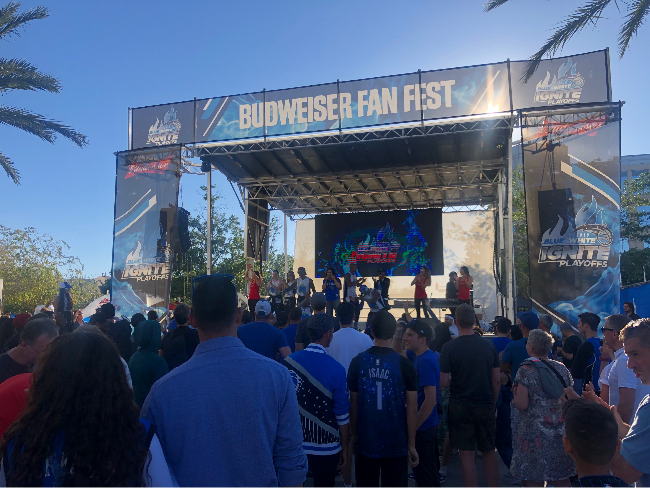 The aXisPro Stageline SL100 rocked Church Street outside Amway Centre for the 2019 Playoff Fanfests!