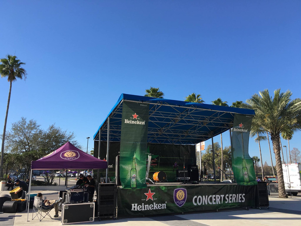 Mobile Stage: 24x16: Orlando City Tailgate Series