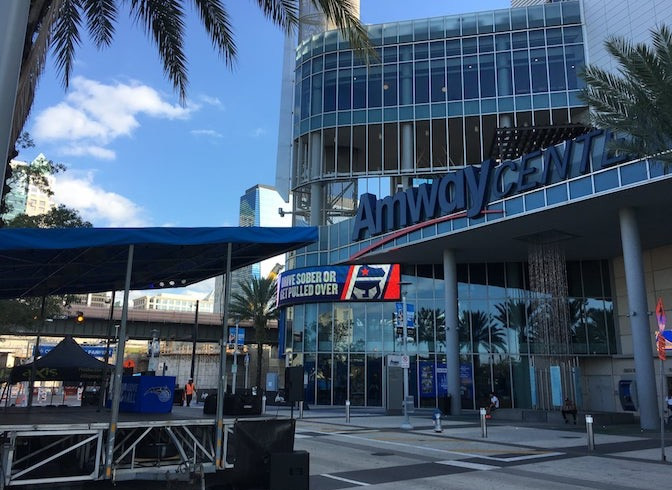 The aXisPro MAP24 Mobile Stage is a great fit for Orlando Magic Fanfest at Amway Centre.