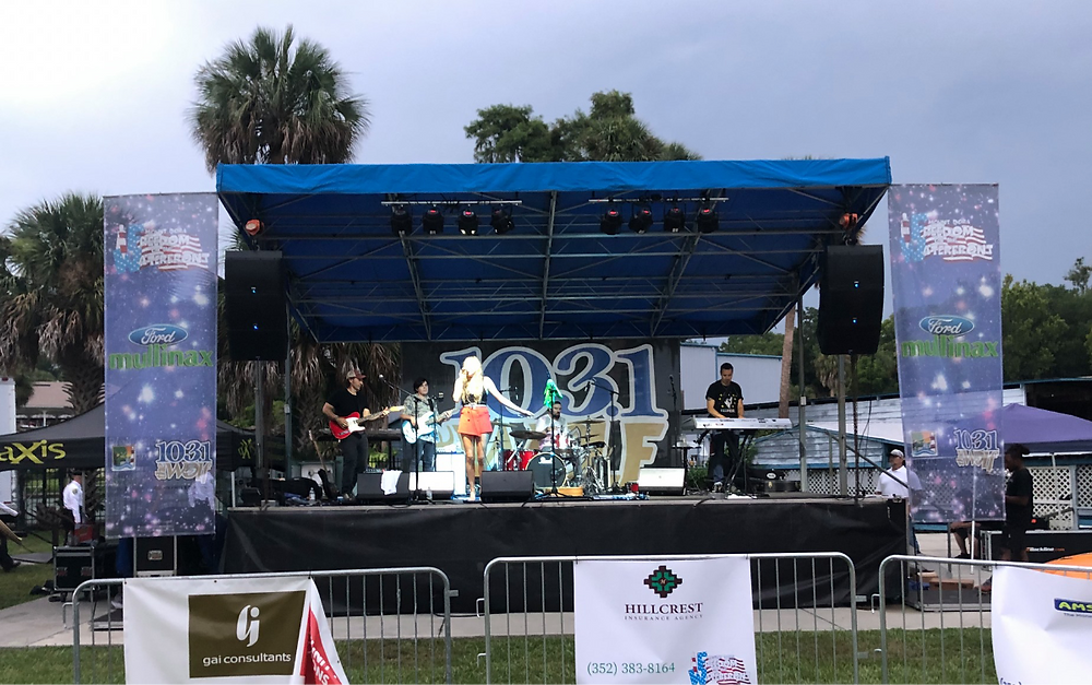 Alexis Gomez rocked the aXisPro MAP24 on the lakefront in Mt Dora for the 4th of July festivities!