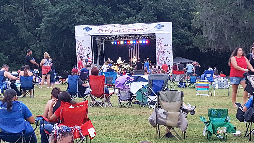 The A Team rocked the aXisPro Stageline SL100 at Gemini Springs Park in DeBary for 'Freedom and Fireworks!'