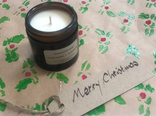 Christmas Candle  Golden Berries & Frankincense Natural Soy Candle