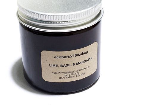 Lime, Basil & Mandarin Natural Soy Candle