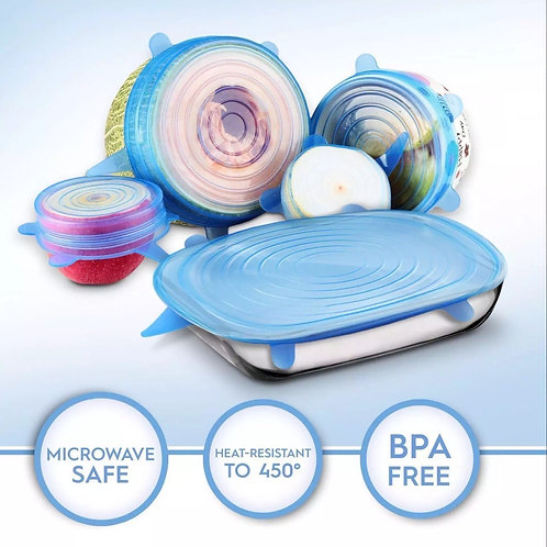 Silicone Stretchable Reusable Lids