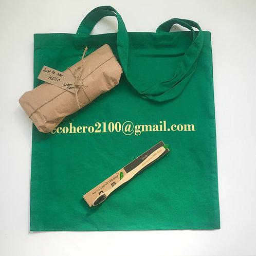 Biodegradable Toothbrush & 'Green' Tote Bag
