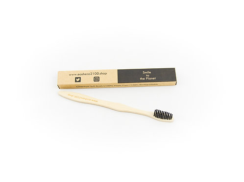 Bamboo Toothbrush (Medium Brush)-handle biodegradable