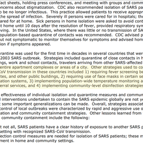 From the CDC: Strategies used to combat 2002 SARS outbreak included mass fever screening.
