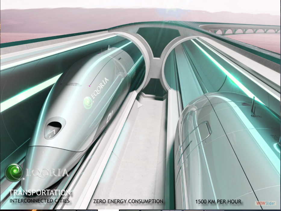 EQORIA Hyperloop Transportation