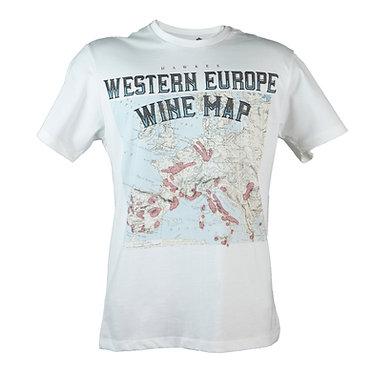 Camiseta Wine Map Europe Hawke's