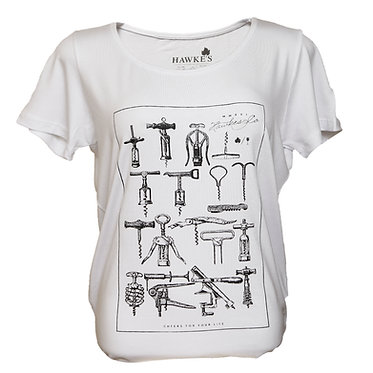 Camiseta Fem. Saca-Rolhas Branca