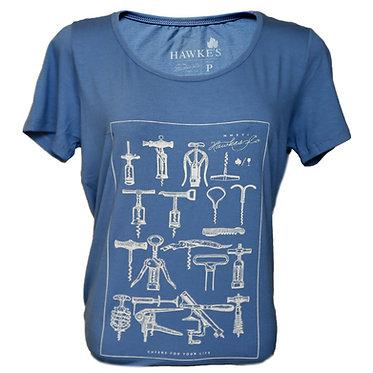 Camiseta Fem. Saca-Rolhas Azul