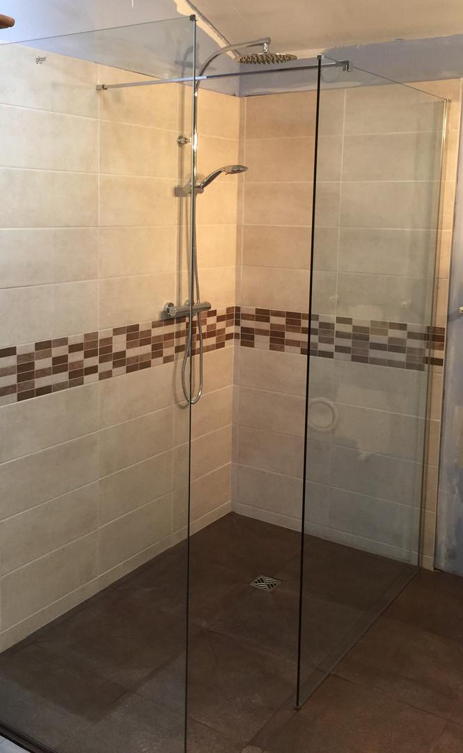 création d'une douche à l'italienne