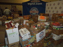 Bethany's WGNA Hunger Games food drive