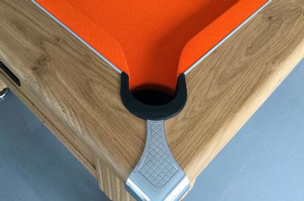 Orange smart pool table cloth