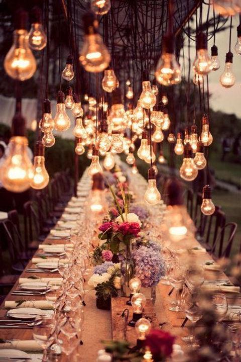 Modern twist on a rustic wedding