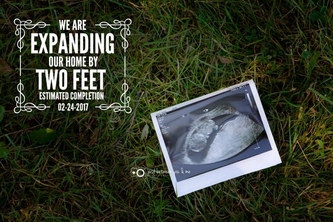 Surprise! Pregnancy announcement
