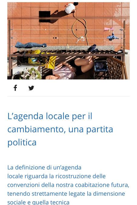 L'agenda locale per il cambiamento, una partita politica