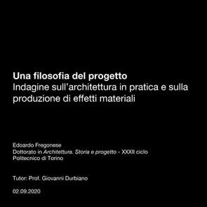 Una filosofia del progetto Indagine sull'architettura in pratica e sulla produzione di effetti materiali