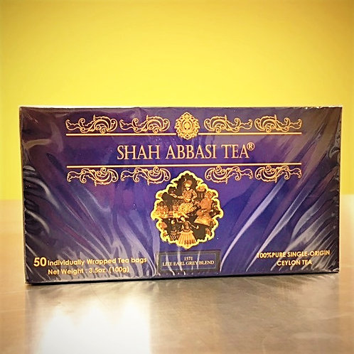 Shah Abbasi 1571 Single-Origin Lite Earl Grey 50 Count Tea Bags Net Weight 100g
