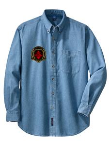 SH Port & Company SP10-Longsleeve Value Denim Shirt(FD)