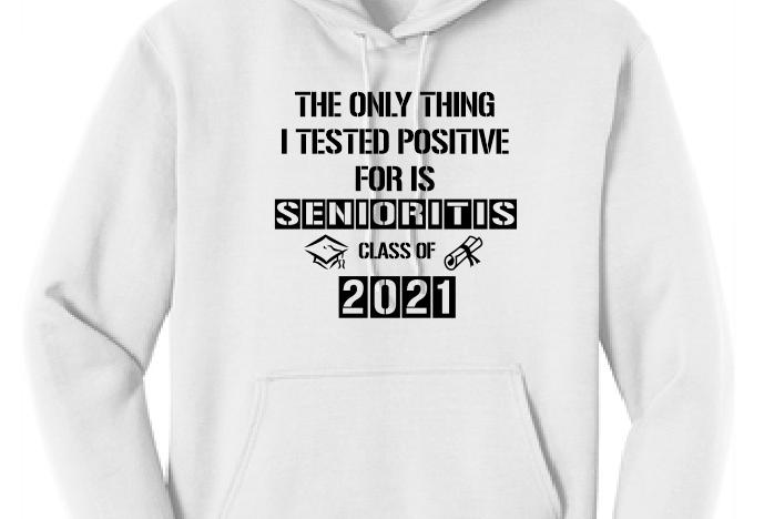 Senior 2021-White Sweatshirt