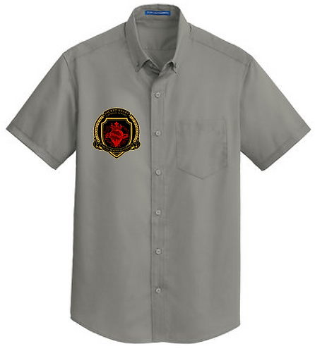 SH Port Authority S664-Short Sleeve SuperPro Twill Shirt(Monumental Gray)