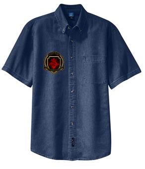 SH Port &Company SP11-Short Sleeve Value Denim Shirt(D)
