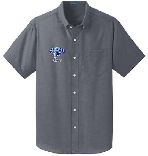 AS Port Authority S659 Short Sleeve Oxford Shirt (Black)