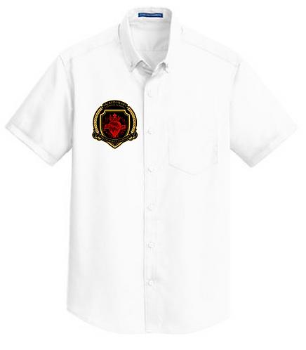 SH Port Authority S664-Short Sleeve SuperPro Twill Shirt(White)