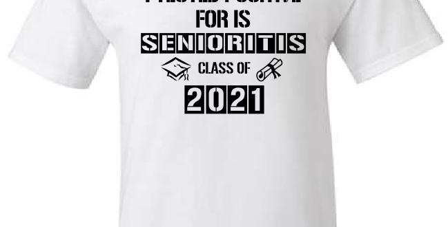 Senior 2021-White T-Shirt