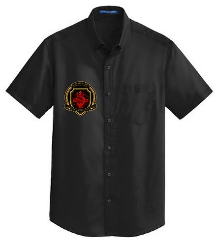 SH Port Authority S664-Short Sleeve SuperPro Twill Shirt(Black)