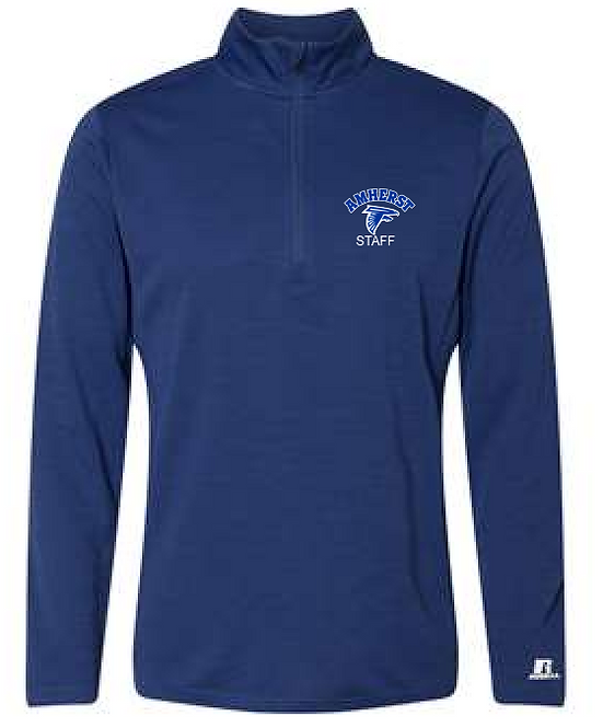 AS Russell QZ7EAM Striated Quarter-Zip Pullover