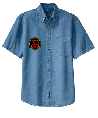 SH Port &Company SP11-Short Sleeve Value Denim Shirt(FD)