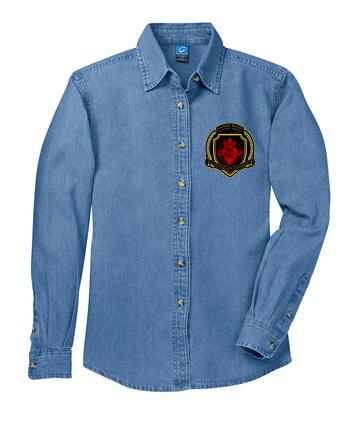 SH Port & Company LSP10-Ladies Longsleeve Value Denim Shirt(FD)