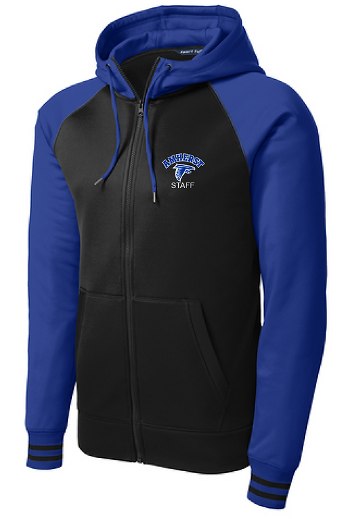 AS Sport-Tek Sport-Wick Varsity Fleece Full-Zip Hooded Jacket