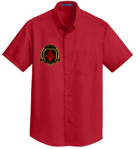 SH Port Authority S664-Short Sleeve SuperPro Twill Shirt(Red)